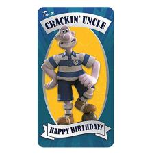 Uncle Wallace & Gromit Birthday Card