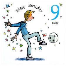 9 Today David Walliams  The Boy In The Dress 9th Birthday Card
