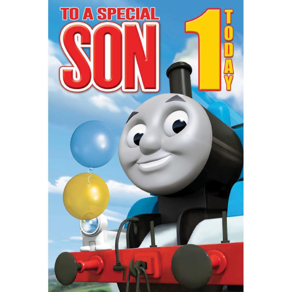 1st Birthday Son Thomas Friends Card GBP269
