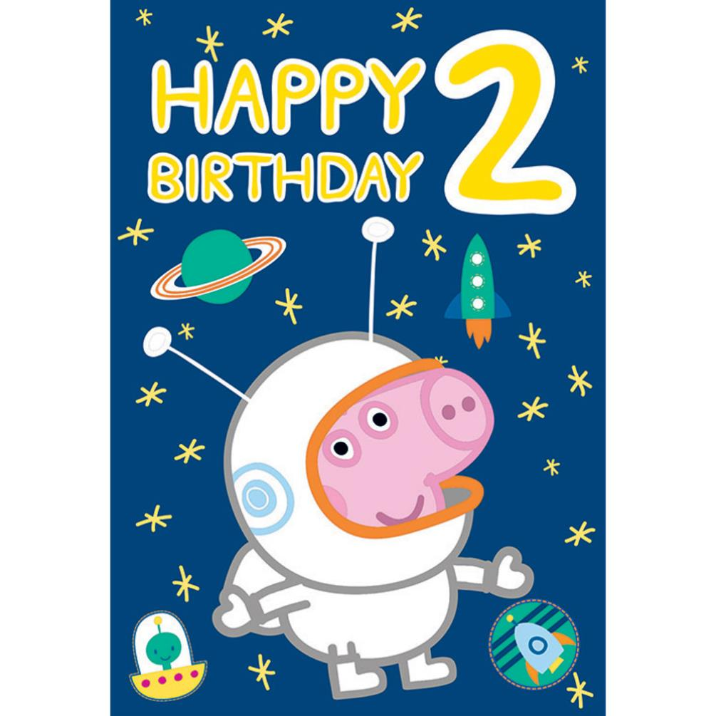 Happy 2nd Birthday Peppa Pig Birthday Card 222029 Character Brands – Happy 2nd Birthday Card
