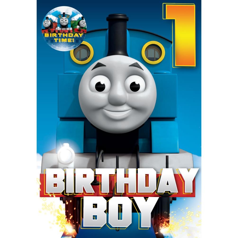 1st Birthday Boy Thomas Friends Card With Badge GBP210