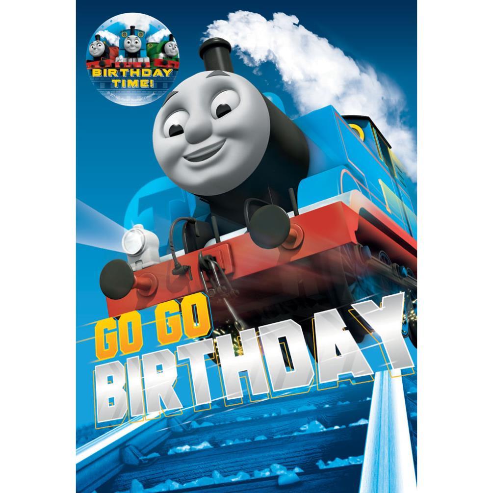 Go Go Thomas & Friends Birthday Card With Badge (223644 ...