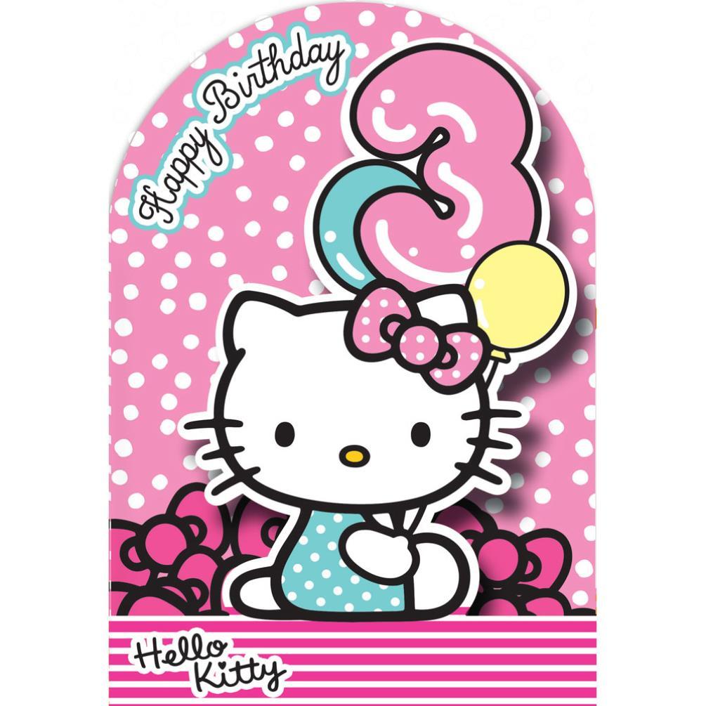 3rd Birthday 3D Stand Up Hello Kitty Birthday Card 235111 – Hello Kitty Birthday Cards