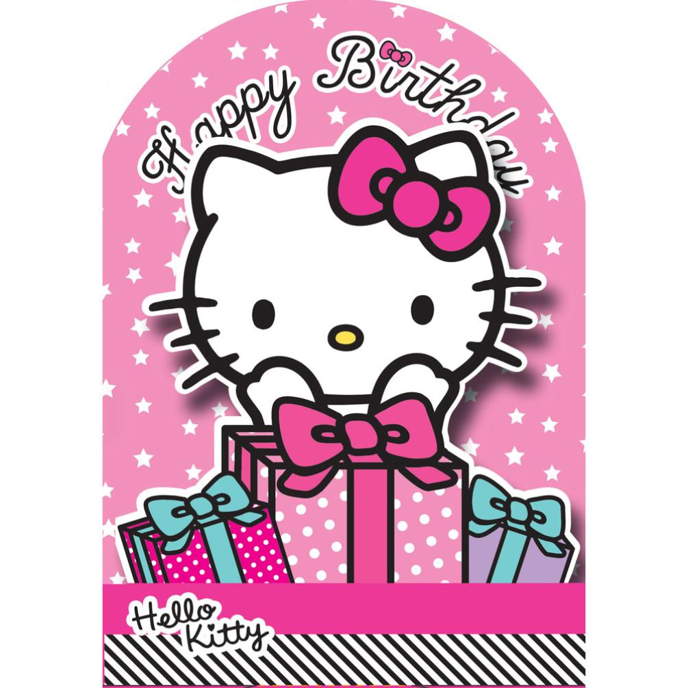 happy birthday 3d stand up hello kitty birthday card 235173