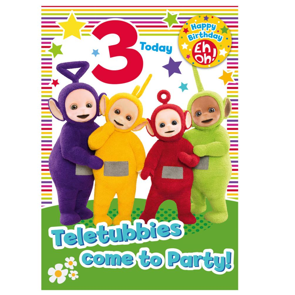 Teletubbies Birthday Cards Assorted – Birthday Cards Assorted
