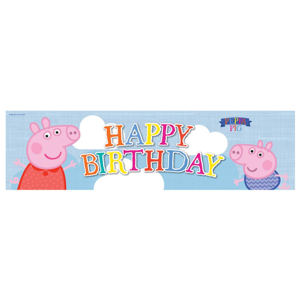 Peppa Pig Banner Peppa Pig Birthday Banner By: Peppa Pig Birthday Banner & Party Balloons Pack (235470