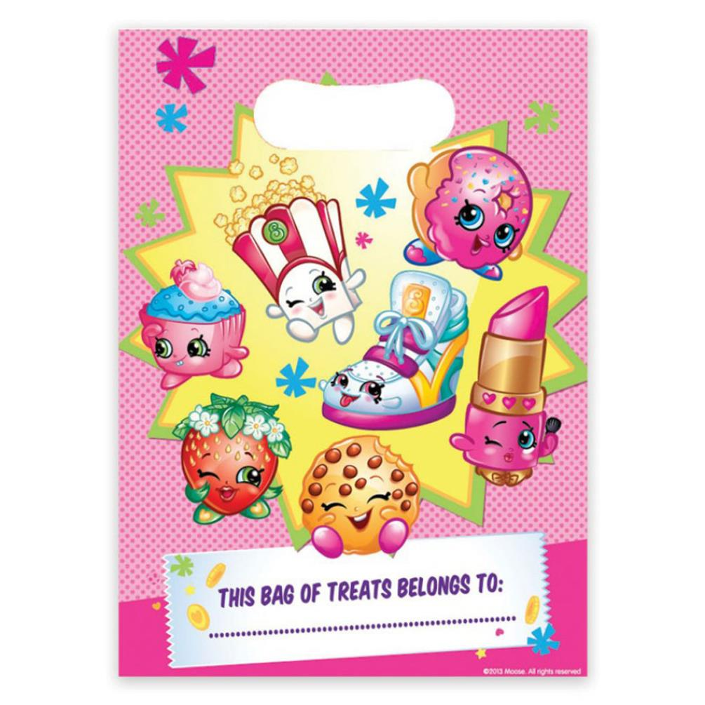 Loot Bags 1st Birthday Boys Balloons 8 Pk: Shopkins Party Loot Bags Pack Of 8 (238419)