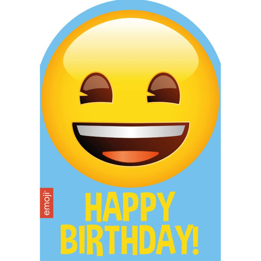 Smiley Happy Birthday Emoji Card 199