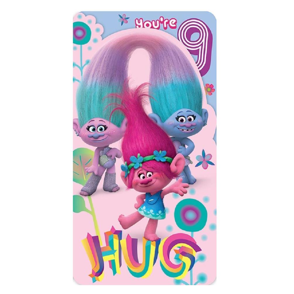 trolls 9th birthday card 242287 character brands