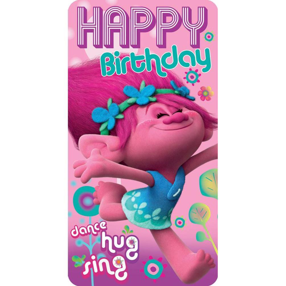 Trolls Happy Birthday Card 242348 Character Brands