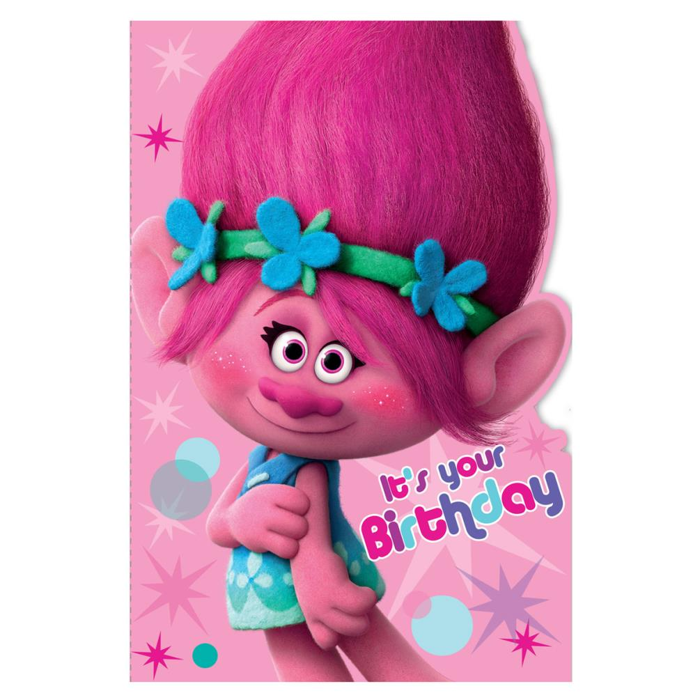 Its Your Birthday Trolls Birthday Card 242355