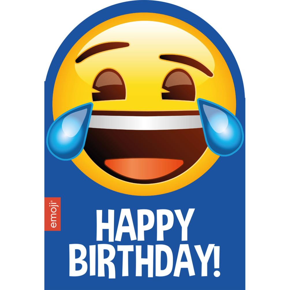 Smiley Tears Happy Birthday Emoji Card 199