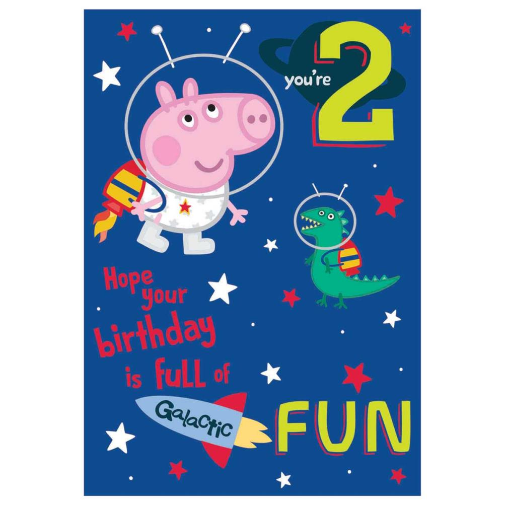 wholesale so cheap run shoes 2 Today Peppa Pig Birthday Card
