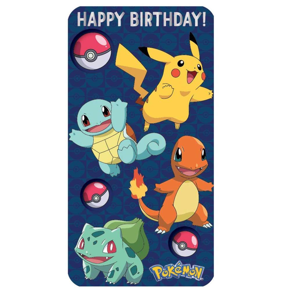 Birthday Cards Pokemon: Happy Birthday Pokemon Birthday Card (250541)