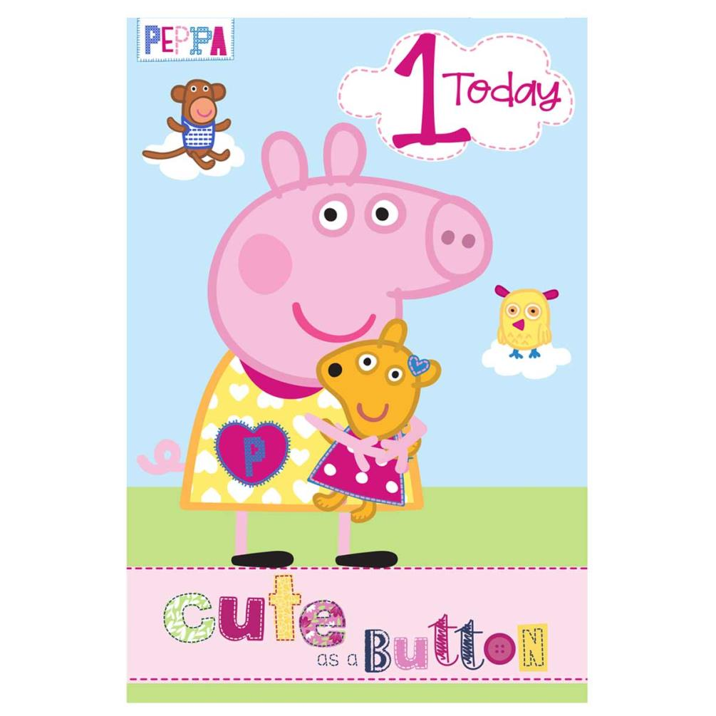 1 Today Peppa Pig Birthday Card