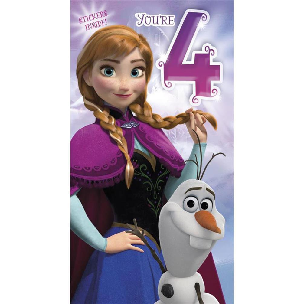 Disney Frozen Birthday Cards Assorted Ebay