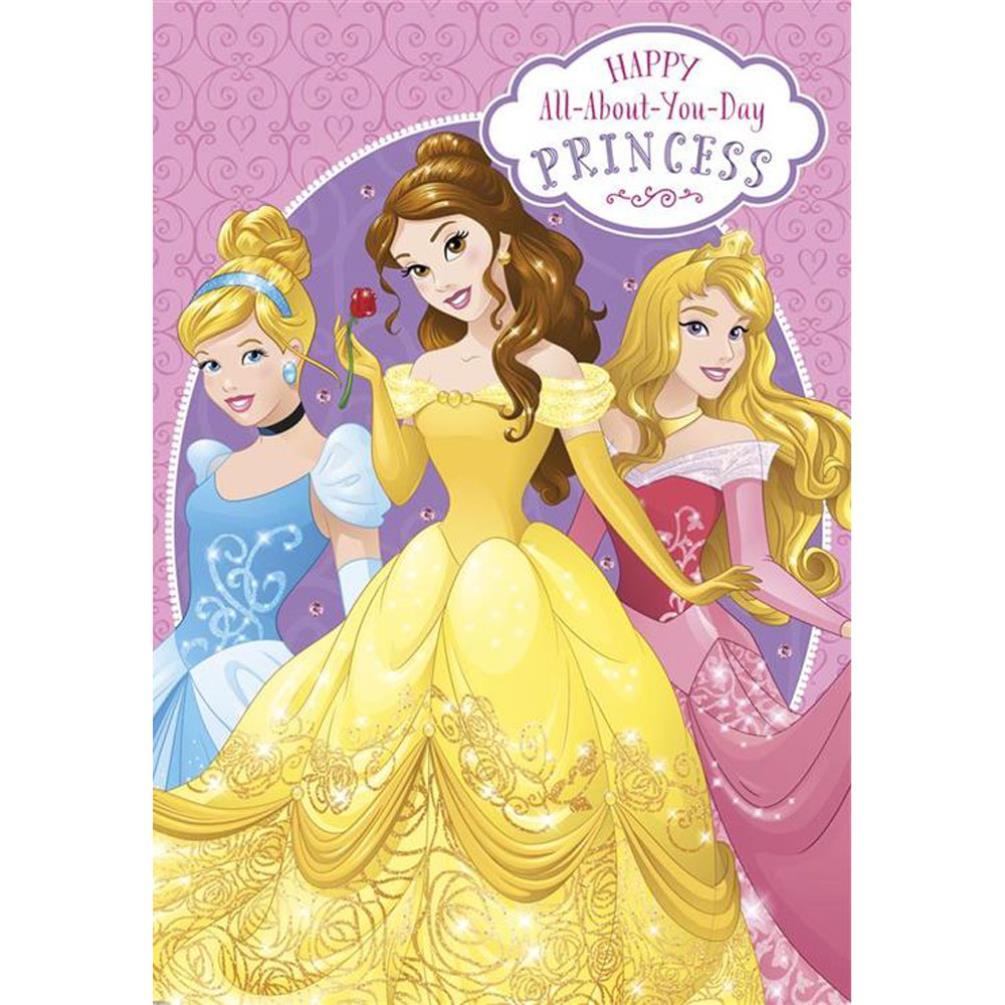 Birthday Princess Disney Princess Birthday Card (25454937