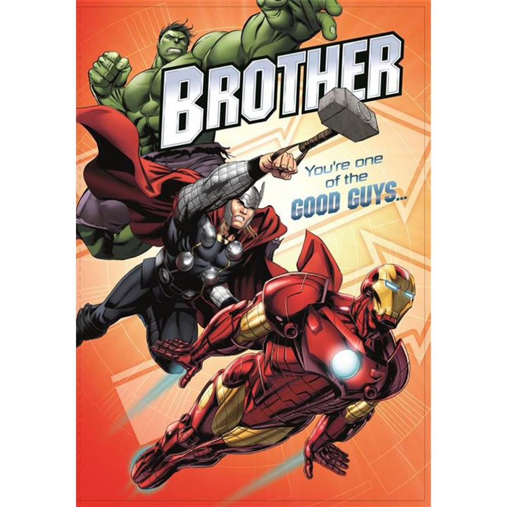brother marvel avengers birthday card 25455505