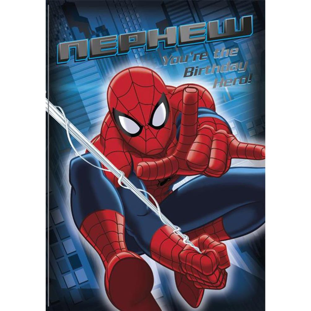Nephew Birthday Hero Marvel Spiderman Birthday Card 25455512