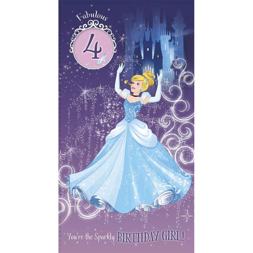 Disney Princess Birthday Cards Assorted Ebay