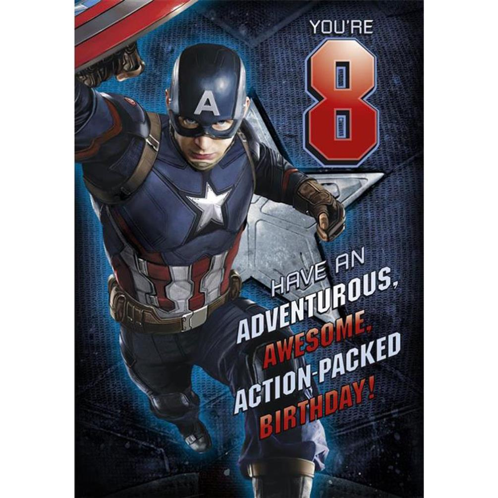 Captain America Birthday Greeting