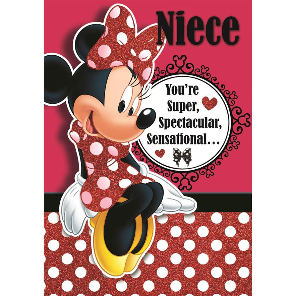 Niece Disney Minnie Mouse Birthday Card 185