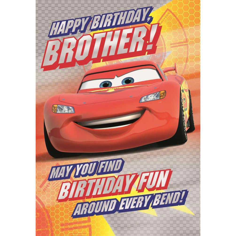 Brother Disney Cars Birthday Card 25460983 Character Brands