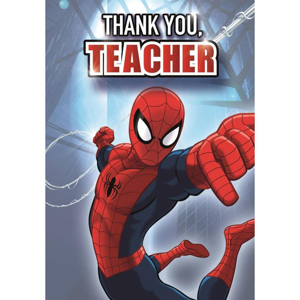 Thank You Teacher Marvel Spiderman Thank You Card 25460984