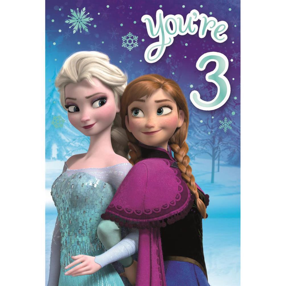 Youre 3 disney frozen birthday card 25461515 character brands youre 3 disney frozen birthday card m4hsunfo