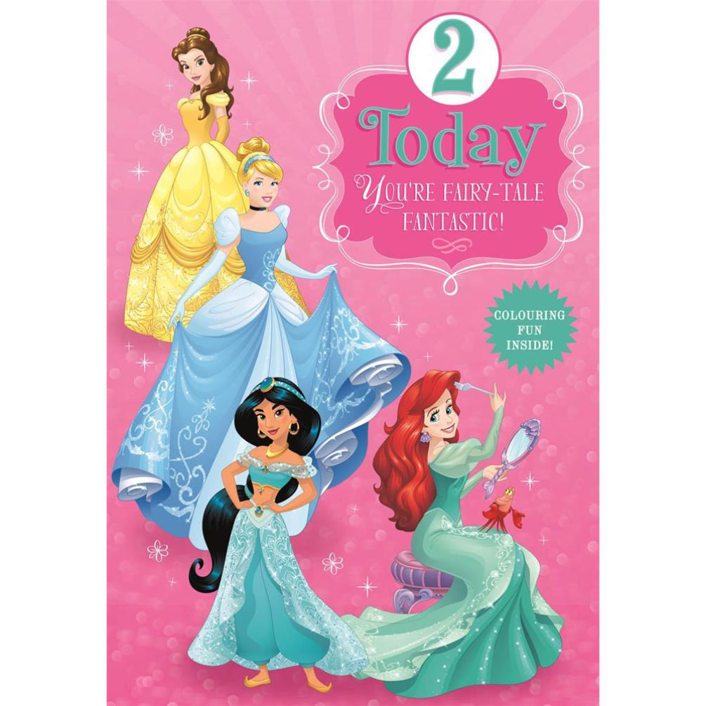 2 Today Disney Princess Birthday Card (25461532
