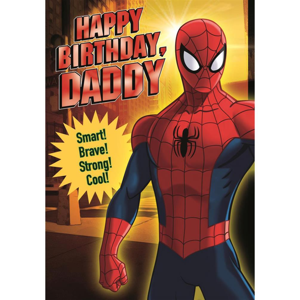 Daddy Happy Birthday Spiderman Birthday Card (25461976 ...