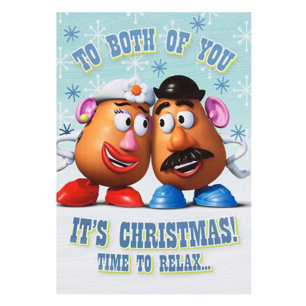 To Both Of You Mr Mrs Potato Head Toy Story Christmas Card