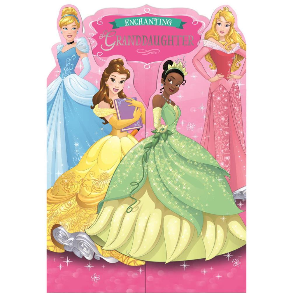 disney princess birthday cards  assorted