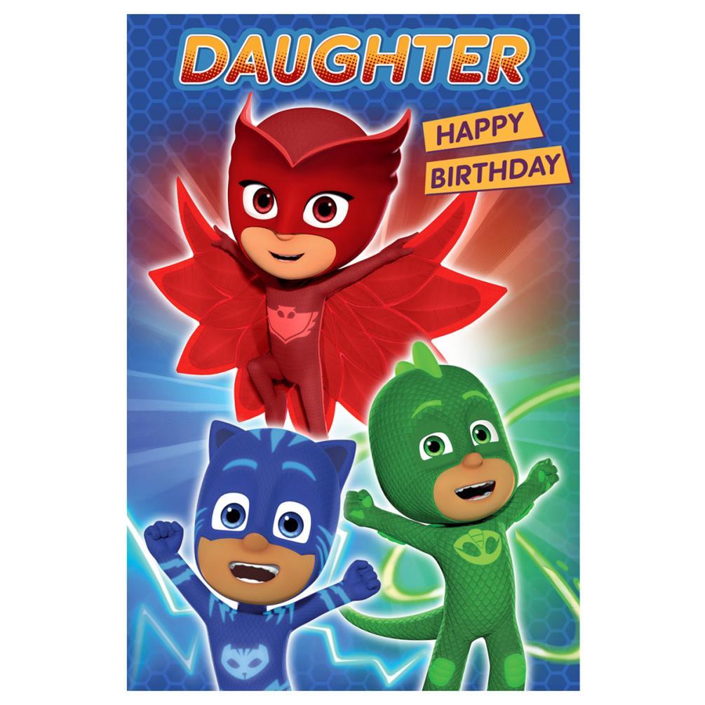 Daughter PJ Masks Birthday Card 239