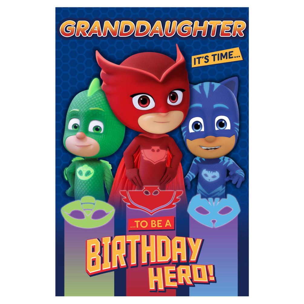 Granddaughter PJ Masks Birthday Card 239