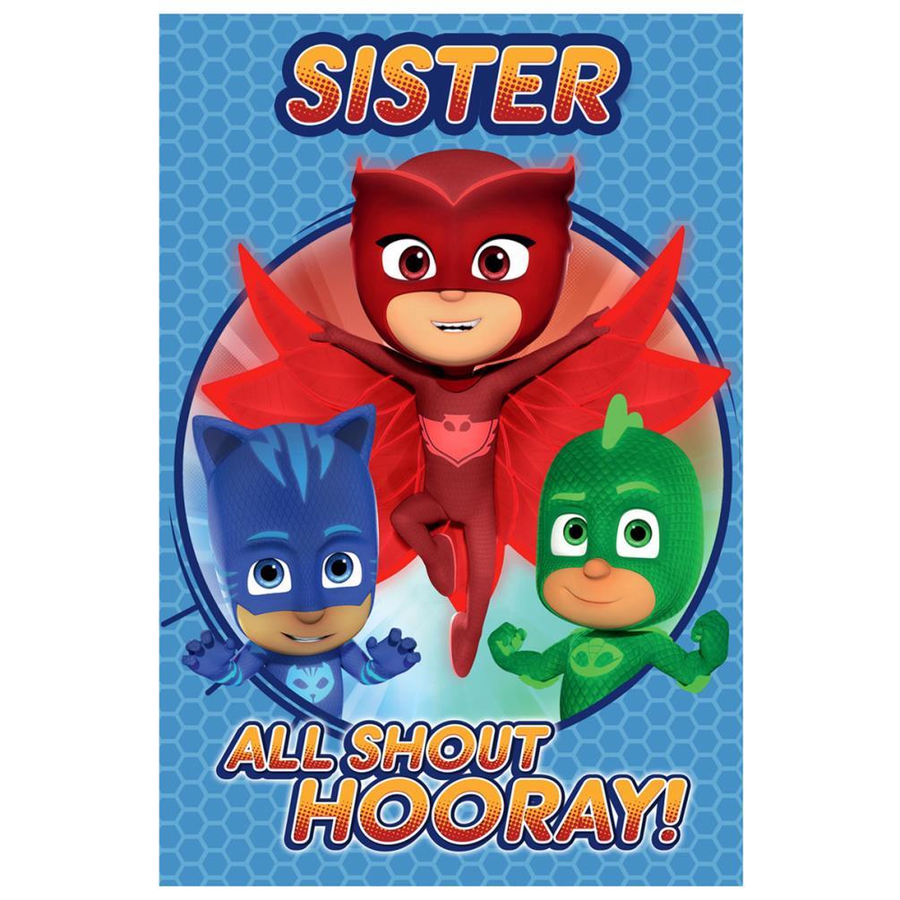 Sister PJ Masks Birthday Card 239