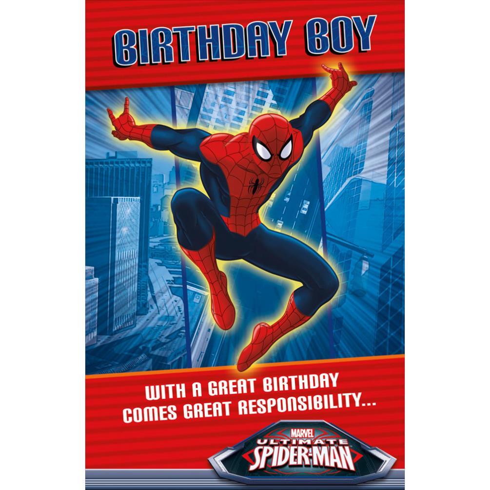 birthday boy spiderman birthday card 189