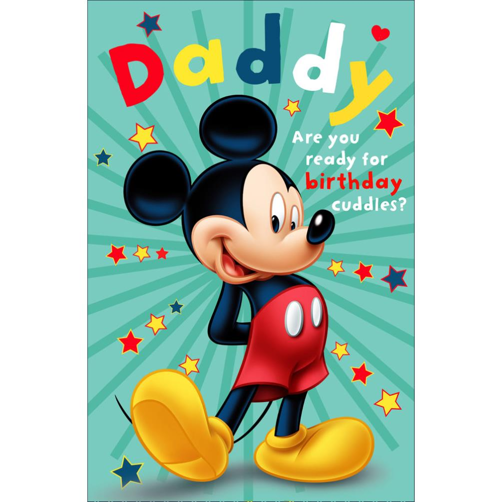 Daddy Mickey Mouse Pop Up Birthday Card 345