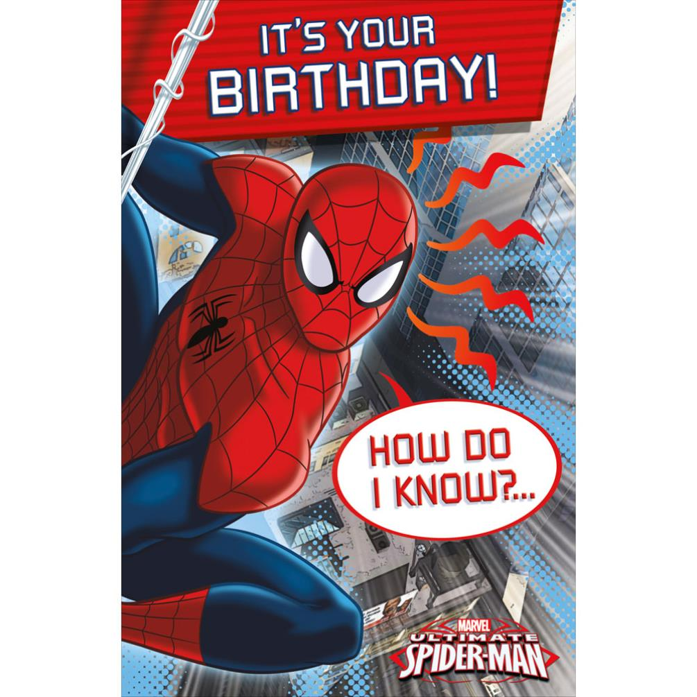 Its Your Birthday Spiderman Birthday Card 465370 0 1 Character