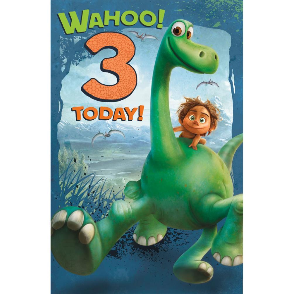 3 today the good dinosaur birthday card 49129201