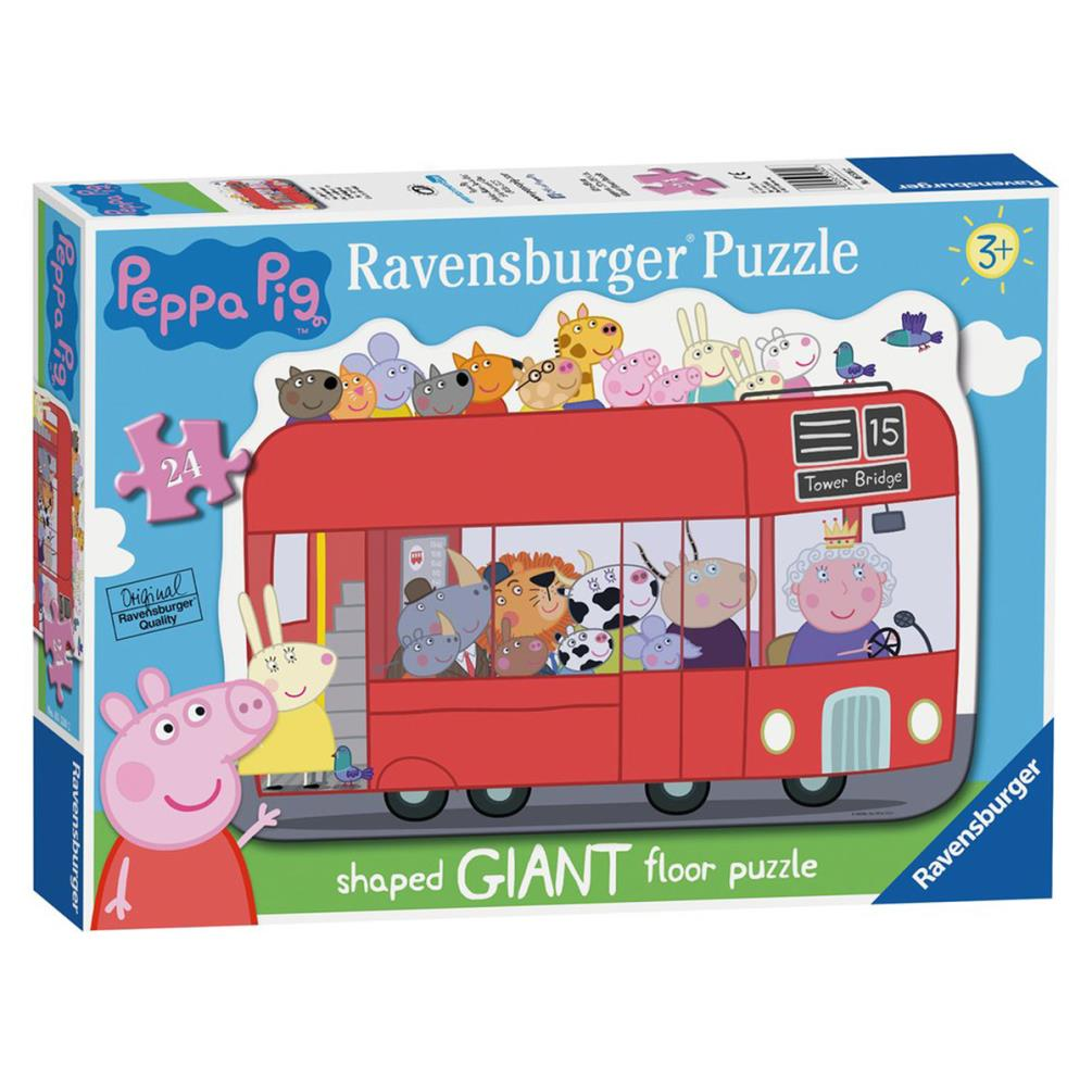 Peppa Pig Bus Shaped 24 Pc Giant Floor Jigsaw Puzzle 5530