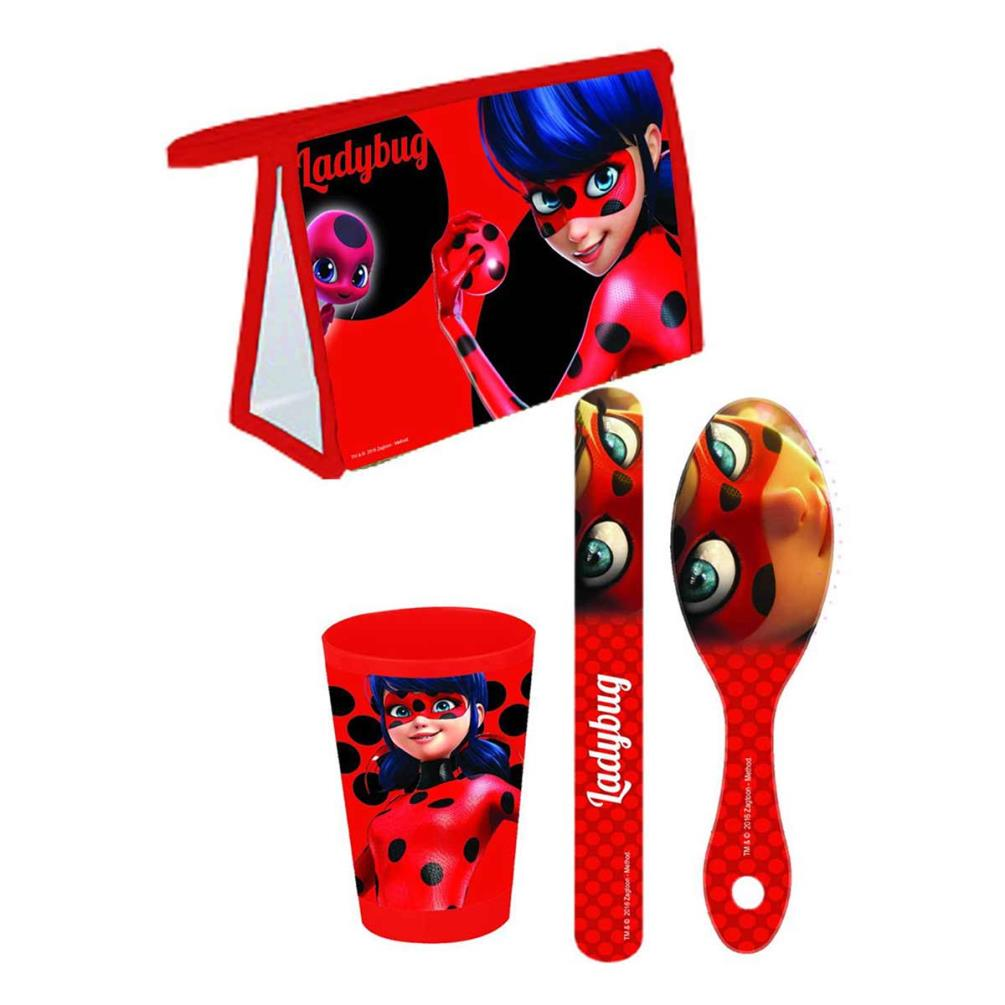 Official Paw Patrol Filled Travel Toiletry Bag;Hair Brush-Toothbrush Holder-Cup