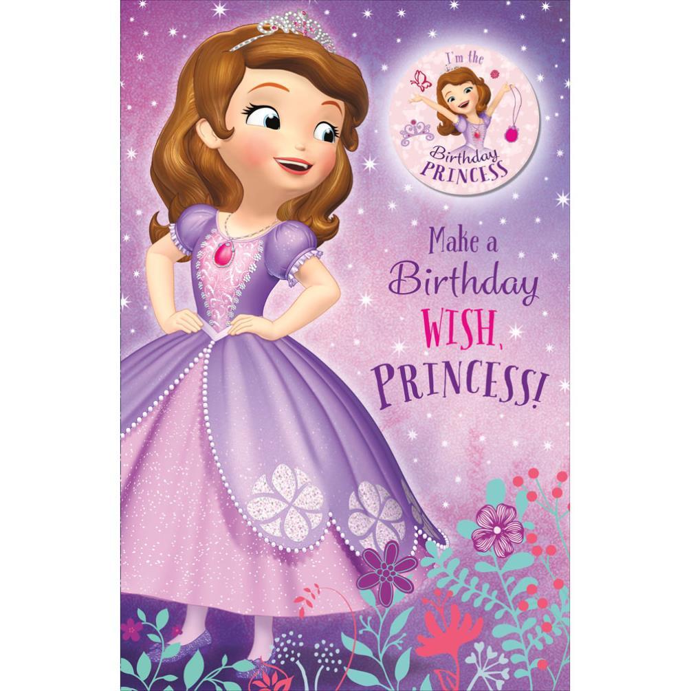 Birthday princess sofia the first birthday card with badge 787613 0 birthday princess sofia the first birthday card with badge 189 bookmarktalkfo Image collections