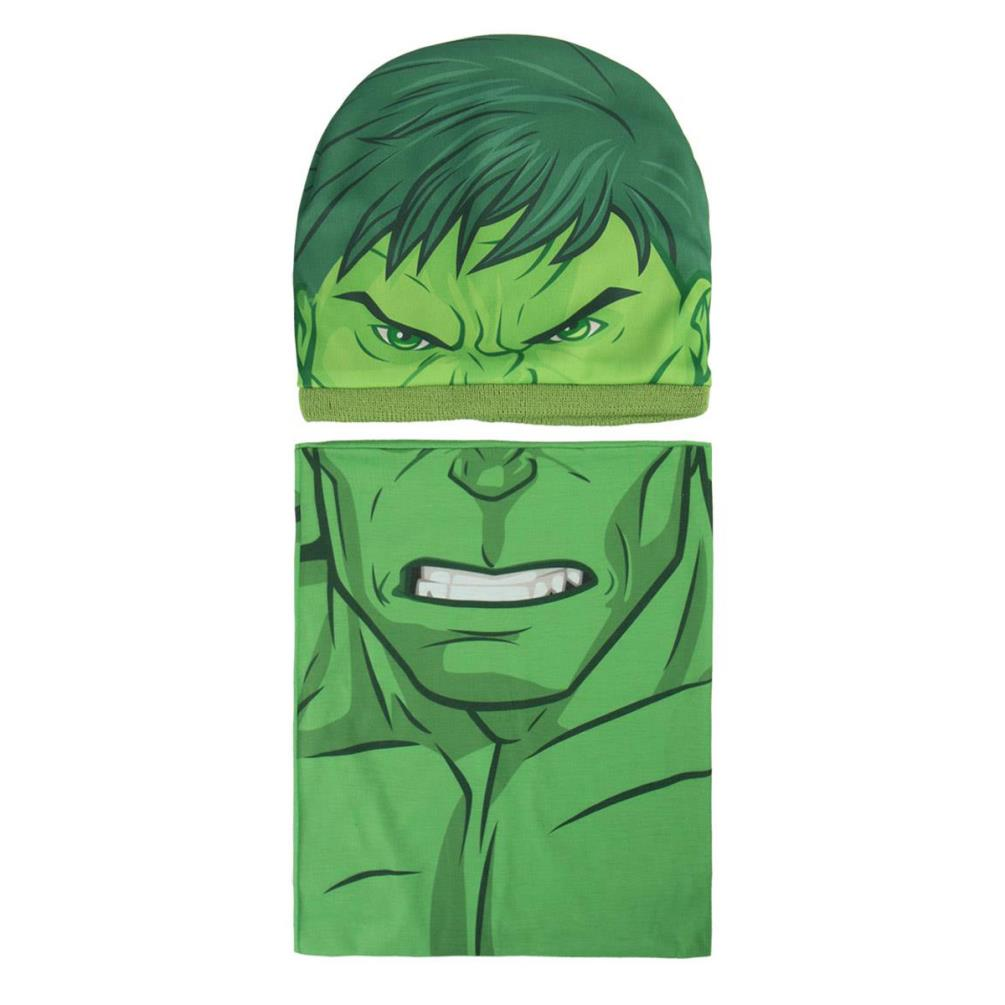 5bb1884625a Marvel Avengers Incredible Hulk Winter Hat   Chimney Scarf Set £19.99