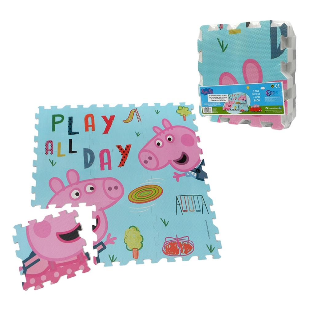 Peppa Pig 9 Pc Foam Floor Jigsaw Mat 8435507811613