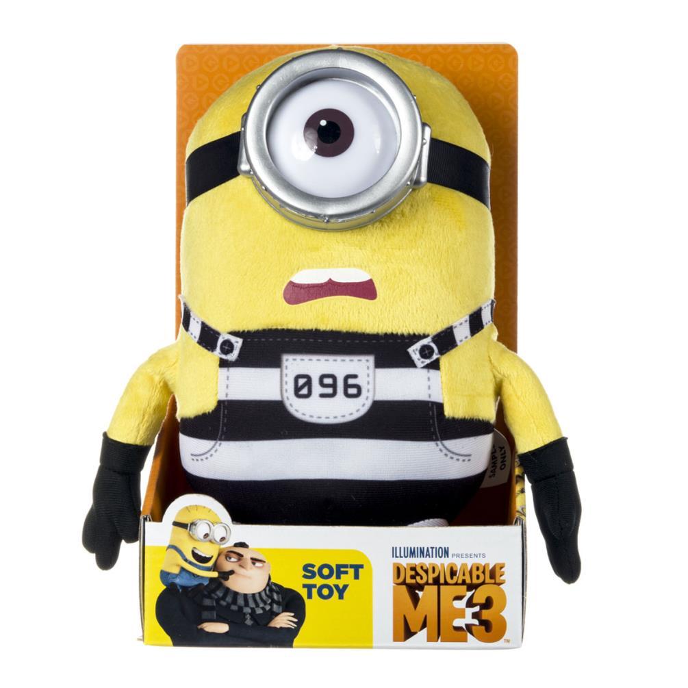 Minion Stuart In Jail Medium Plush Soft Toy 9076b Character Brands