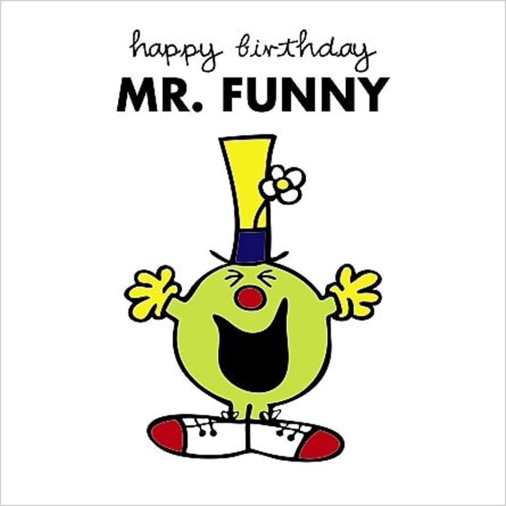 3D Holographic Mr Funny Mr Men Birthday Card (AMNVZ007