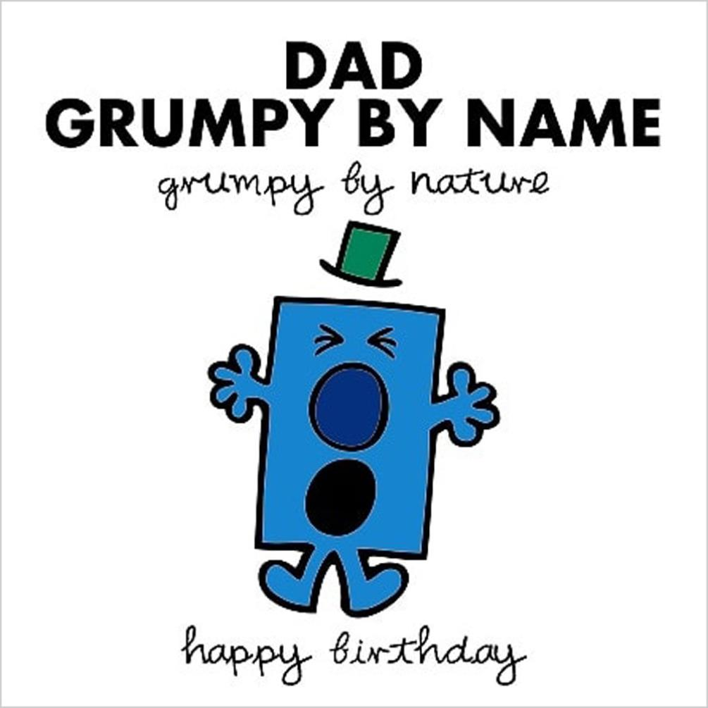 3D Holographic Dad Grumpy By Name Mr Men Birthday Card