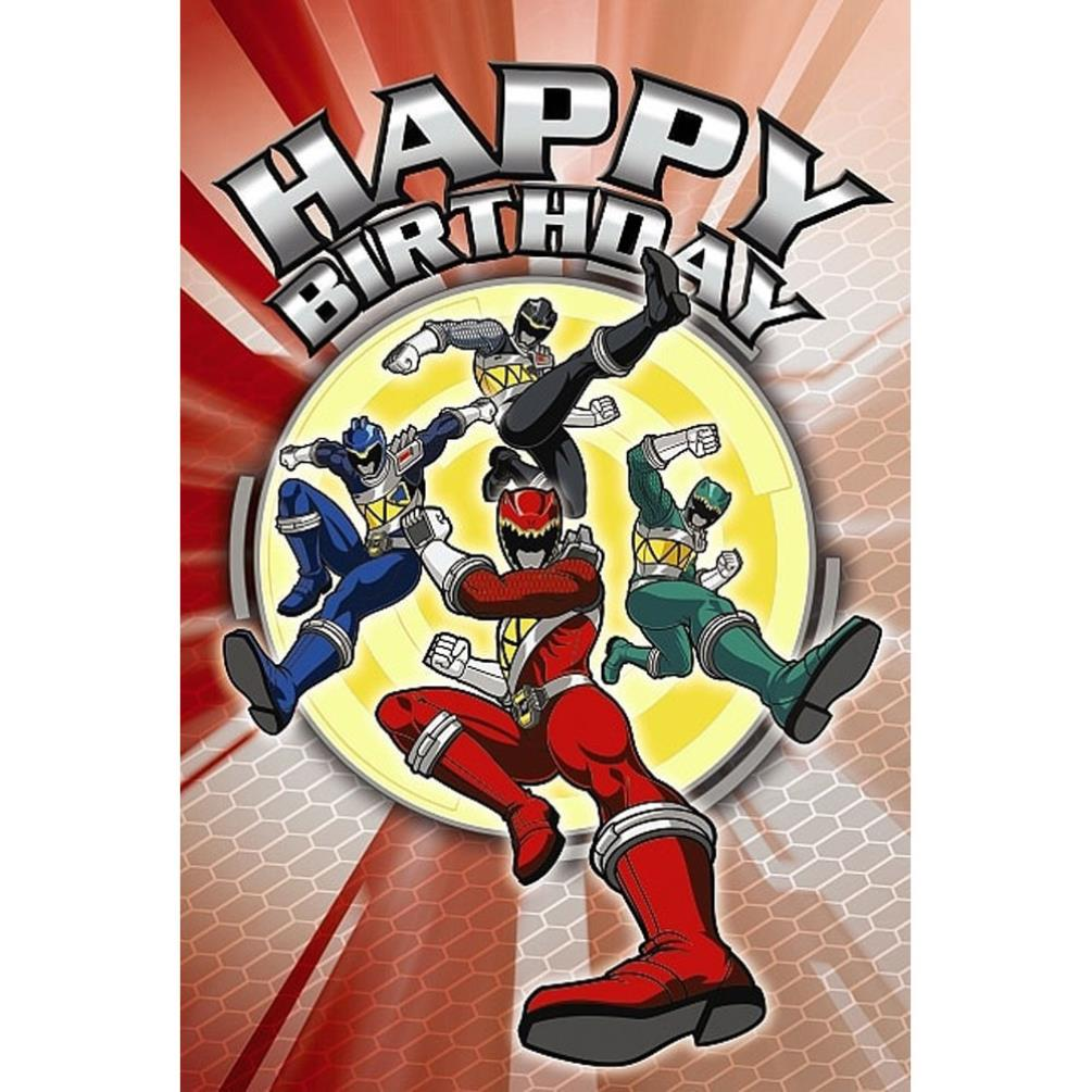 happy birthday power rangers birthday card  ap1ms006