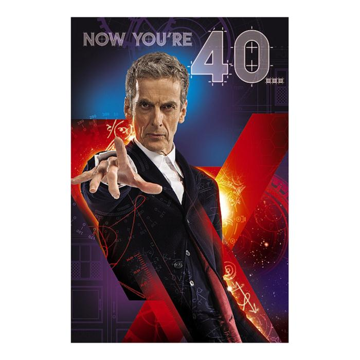 40th Birthday 3D Holographic Funny Doctor Who Card AP4MZ010